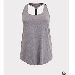 TORRID* grey t-back active tank